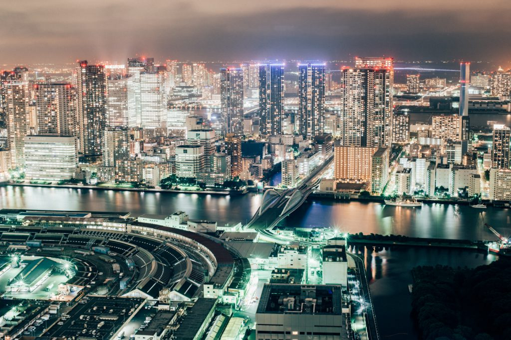 【夜景スポット】カレッタ汐留46階から見る東京の夜景