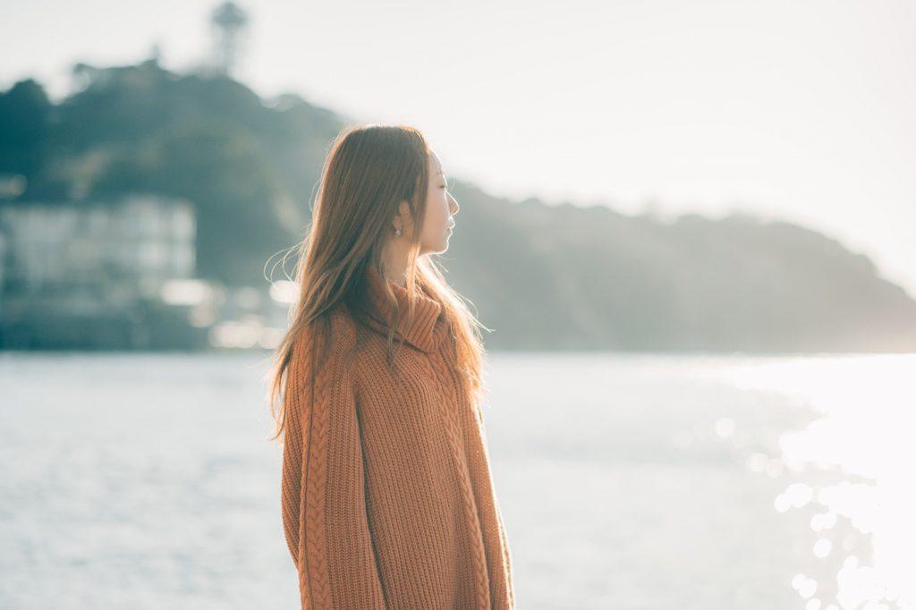【100人ポートレート】vol.7 writer/songwriterの結花さん 〜海と夕日とポートレート〜